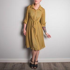 Dresses & Skirts - Sheer Yellow Chevron Dress